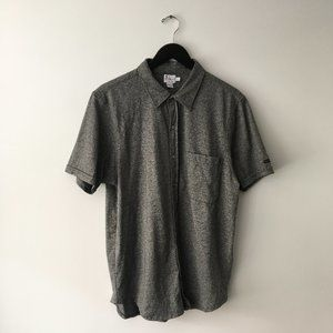 Calvin Klein Jeans Button Up Shirt Pocket Gray L